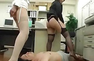 Japanese facesitting and assjob