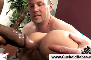 Cuckold bride fucks black cock
