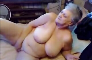 Nasty grandma fingering pussy. Real amateur