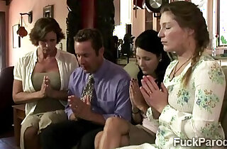 Religious MILF and her hot young daughters pray for a big fat 2014 render