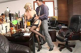 Teamskeet Sexy busty blonde Donna Bell office deepthroat and anal sex