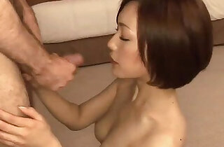 Cock hungry Nene takes ona big thick black cock with her sweet mouth