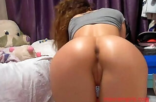 gorgeous young black beauty girl fingering asshole