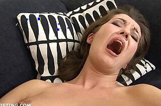 Brunette lesbian brutally fisting her friends little pussy