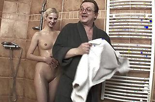Lewd Stepdad Fucking His Skinny Blonde Stepdaughter
