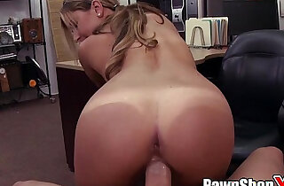 Pretty Cock Eyed Girl with her Nice Ass and Big Nippes in PAWN SHOP