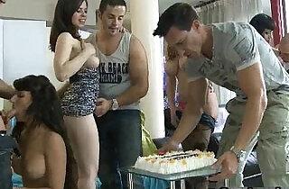 Really great fuck party gangbang