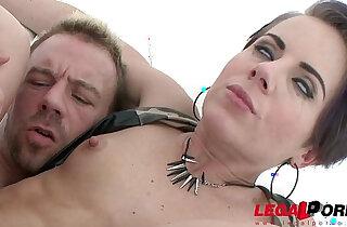 Sexy asian slut Sasha Zima double anal training first DAP