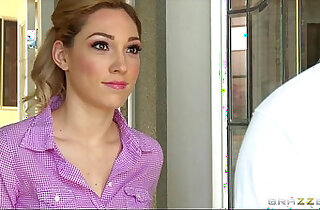 Sexy blond wife Lily Labeau is massaged fucked by her masseur