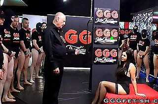 Sluts in extreme gangbang bukkakes orgies