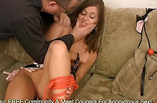 Lauren Barnett Gets Tied Up Gropped And Fingered By A Pervert
